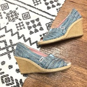 TOMS Woven Espadrille Wedge Sandals